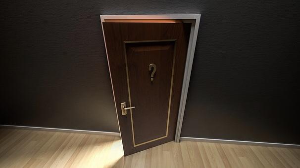 ちょっと開いたドア
