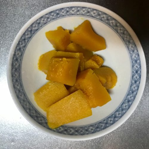 茹で終わったかぼちゃ