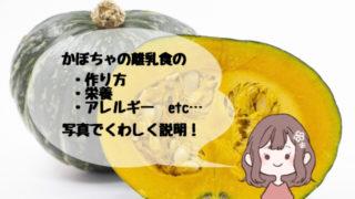 かぼちゃの離乳食
